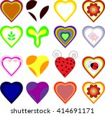 set of vector hearts | Shutterstock .eps vector #414691171