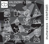 web icons set   valentine's day | Shutterstock .eps vector #414693685