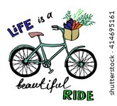 vector hand drawn bicycle | Shutterstock .eps vector #414695161