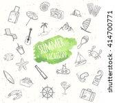 summer objects set. hand drawn... | Shutterstock .eps vector #414700771