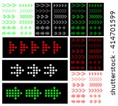 set of 60 color arrows | Shutterstock .eps vector #414701599