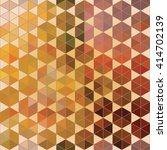 geometric vector hexagon... | Shutterstock .eps vector #414702139