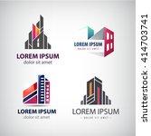 vector set of colorful  modern... | Shutterstock .eps vector #414703741