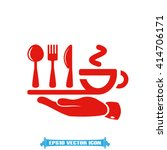 fork spoon knife cup icon | Shutterstock .eps vector #414706171