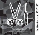 web line icon. scissors and... | Shutterstock .eps vector #414710947