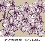 set of vector orchids. isolated ... | Shutterstock .eps vector #414716569