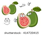 juicy tropical apple guava... | Shutterstock .eps vector #414720415