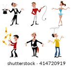 vector illustration of a six... | Shutterstock .eps vector #414720919