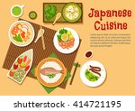 japanese seafood with sushi... | Shutterstock .eps vector #414721195