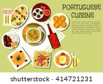 portuguese cuisine with caldo... | Shutterstock .eps vector #414721231