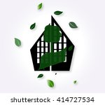 icon of the city with green... | Shutterstock .eps vector #414727534