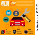 car service flat icon set. auto ... | Shutterstock .eps vector #414729985