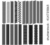 set of detailed tire prints ... | Shutterstock .eps vector #414735865