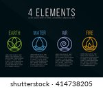 nature 4 elements circle logo... | Shutterstock .eps vector #414738205
