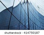 glass wall in modern office... | Shutterstock . vector #414750187