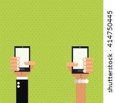 smartphone design. technology... | Shutterstock .eps vector #414750445