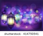 ramadan kareem greeting on... | Shutterstock .eps vector #414750541