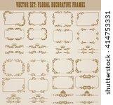 vector set of decorative hand... | Shutterstock .eps vector #414753331