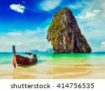 tropical vacation holiday beach ... | Shutterstock . vector #414756535
