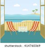 sea landscape summer beach ... | Shutterstock .eps vector #414760369