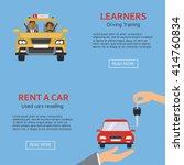 flat design concept of driving... | Shutterstock .eps vector #414760834