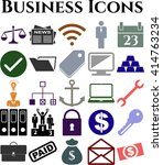 25 icon set. business icons.... | Shutterstock .eps vector #414763234