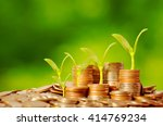 money growing concept business... | Shutterstock . vector #414769234