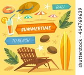 set of objects. summer holidays.... | Shutterstock .eps vector #414769639