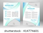 vector flyer template design.... | Shutterstock .eps vector #414774601