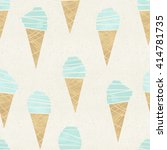 seamless ice cream come pattern ... | Shutterstock . vector #414781735