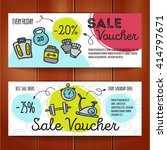 vector set of discount coupons... | Shutterstock .eps vector #414797671