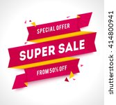 vector transparent sale banner. ... | Shutterstock .eps vector #414800941