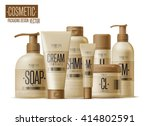 realistic cosmetic bottle mock... | Shutterstock .eps vector #414802591