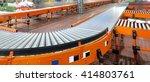 conveyor system in regional... | Shutterstock . vector #414803761