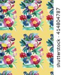 seamless pattern with hand... | Shutterstock . vector #414804787