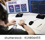 creative modern design... | Shutterstock . vector #414806455