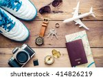 tourism planning and equipment... | Shutterstock . vector #414826219
