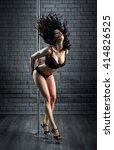 sexy woman dance in a studio   Shutterstock . vector #414826525