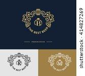 line graphics monogram. logo... | Shutterstock .eps vector #414827269