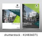 green annual report brochure...   Shutterstock .eps vector #414836071