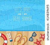 vector swimming pool... | Shutterstock .eps vector #414839695