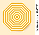 umbrella top view. vector beach ... | Shutterstock .eps vector #414845725