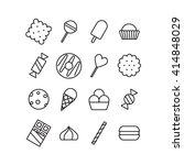 sweet dessert icons set. | Shutterstock .eps vector #414848029