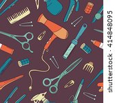 hairdresser tools hand drawn... | Shutterstock .eps vector #414848095