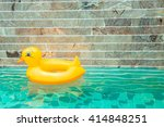 Plastic Duck Floating In A...