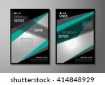brochure template  flyer design ... | Shutterstock . vector #414848929
