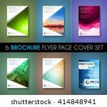 brochure template  flyer design ... | Shutterstock . vector #414848941