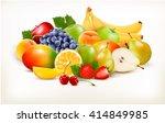fresh juicy fruit and berries... | Shutterstock .eps vector #414849985