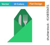 flat design icon of fork and...
