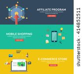 flat style mobile shopping  e... | Shutterstock .eps vector #414852511